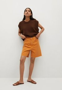 Mango - Shorts di jeans - oranje - 1