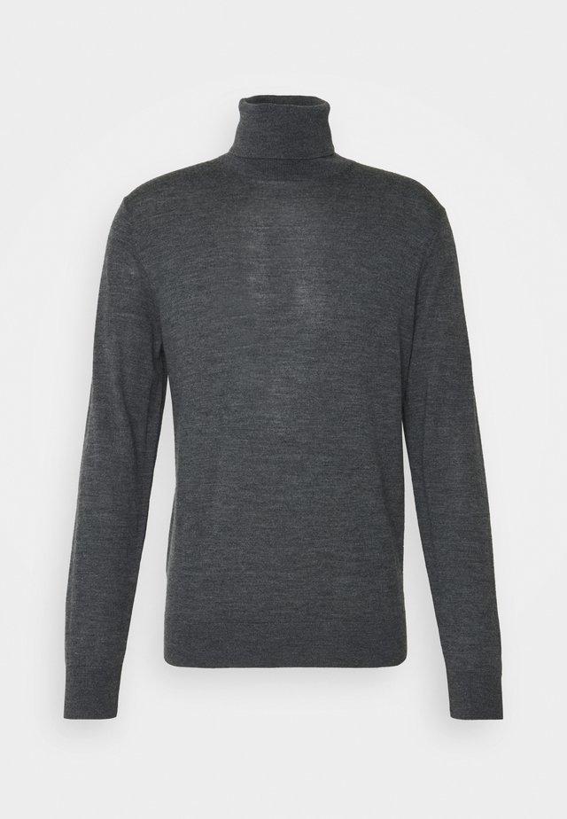 NEW BASIC TURTLE - Stickad tröja - ash melange
