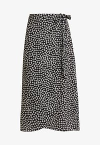 New Look - REBECCA BUBBLE WRAP MIDI - Tubenederdele - black - 4