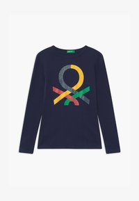 Benetton - BASIC GIRL - Maglietta a manica lunga - dark blue - 0