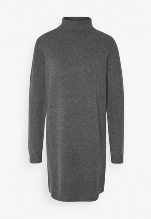 JDY BRILLIANT ROLLNECK - Strikket kjole - dark grey melange
