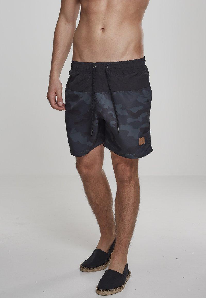 Urban Classics - BLOCK - Swimming shorts - blk/darkcamo