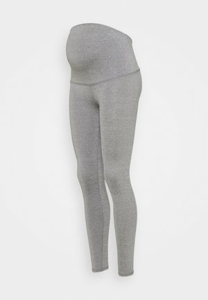 MATERNITY CORE OVER BELLY - Leggings - mid grey
