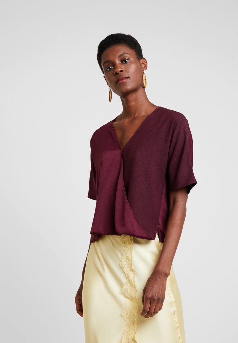 French Connection - ALESSIA WRAP  - Blouse - berry blush