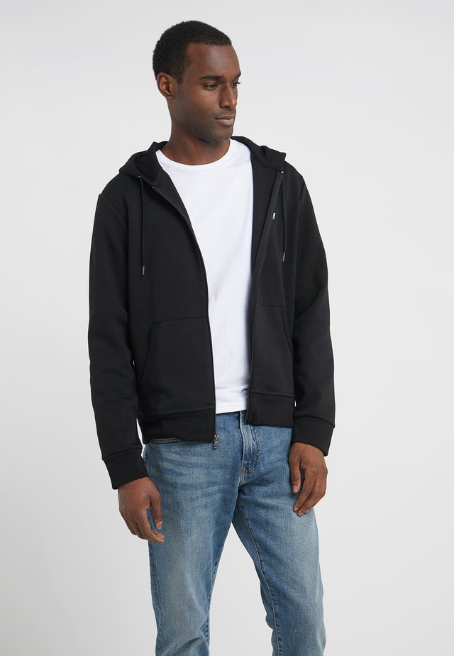 DOUBLE TECH HOOD - veste en sweat zippée - black