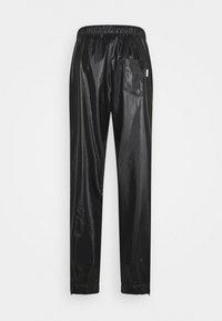 Rains - UNISEX PANTS - Trousers - shiny black - 1