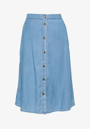 IBISTA WIDE DENIM SKIRT - Pencil skirt - medium blue denim