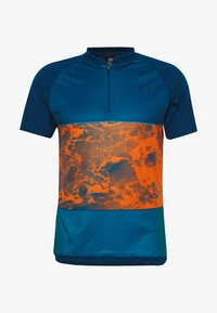 ION - TEE HALF ZIP TRAZE - Print T-shirt - riot orange - 4