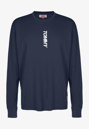 TJM LONGSLEEVE VERTICAL LOGO TEE - Long sleeved top - twilight navy