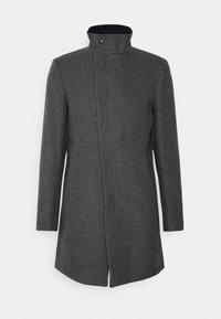 ASYMMETRIC FUNNEL NECK - Klasyczny płaszcz - grey
