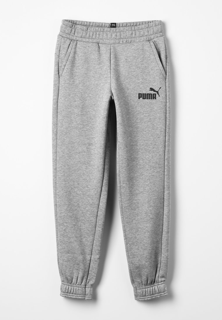 Puma - ESS LOGO SWEAT PANTS FL CL B - Tracksuit bottoms - medium gray heather