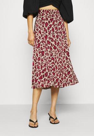CLAIRE SKIRT - A-line skirt - oatmeal/parrot purpl