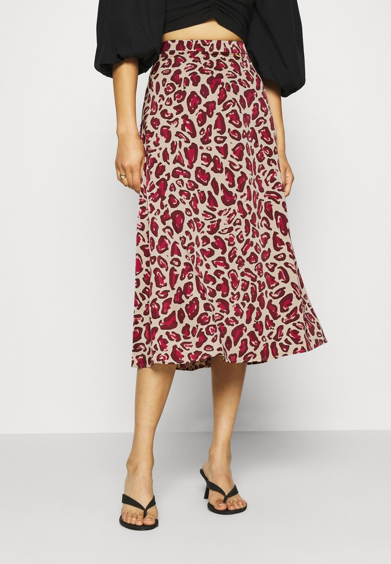 Fabienne Chapot - CLAIRE SKIRT - A-line skirt - oatmeal/parrot purpl