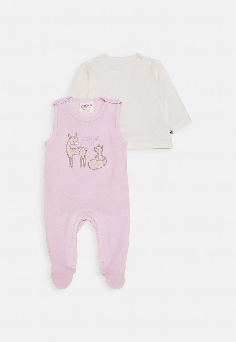 Jacky Baby - STRAMPLER WOODLAND TALE SET - Jumpsuit - flieder/off white