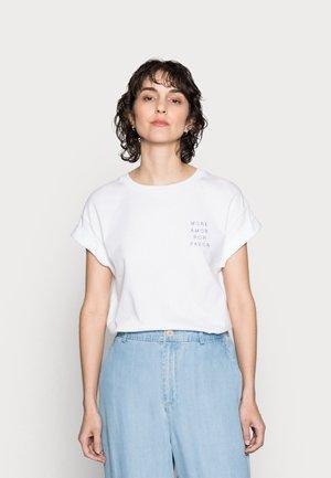 BOYFRIEND SPARKLE - Print T-shirt - white/blue