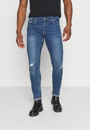 ONSLOOM SLIM BLUE DAMAGE - Slim fit jeans - blue denim