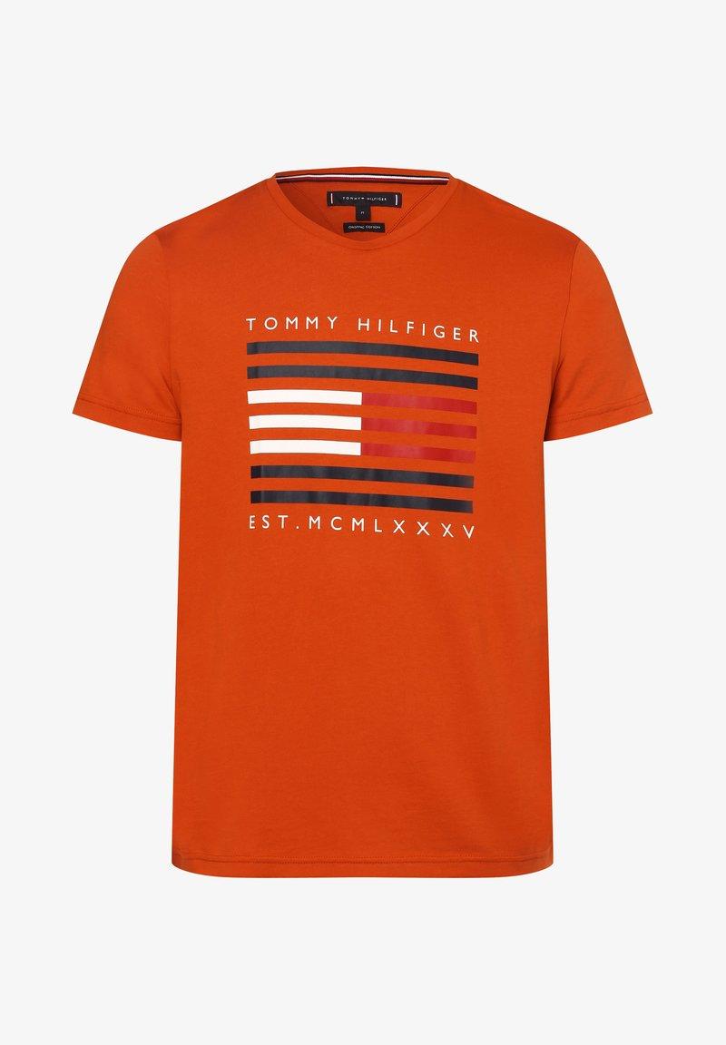 Tommy Hilfiger - T-shirt med print - orange