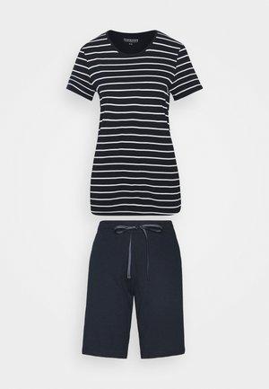 KURZER SCHLAFANZUG - Pyjama set - dunkelblau