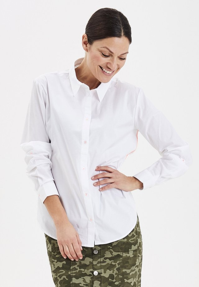 FRIPBUTTON  - Button-down blouse - white