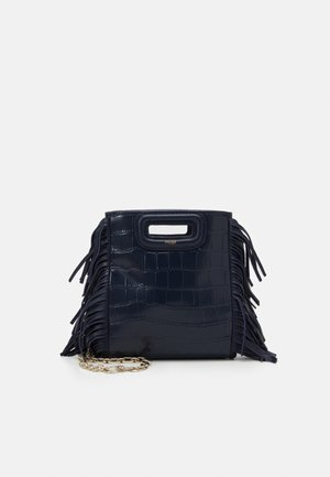 MINI CROCO CHAINE - Across body bag - bleu nuit
