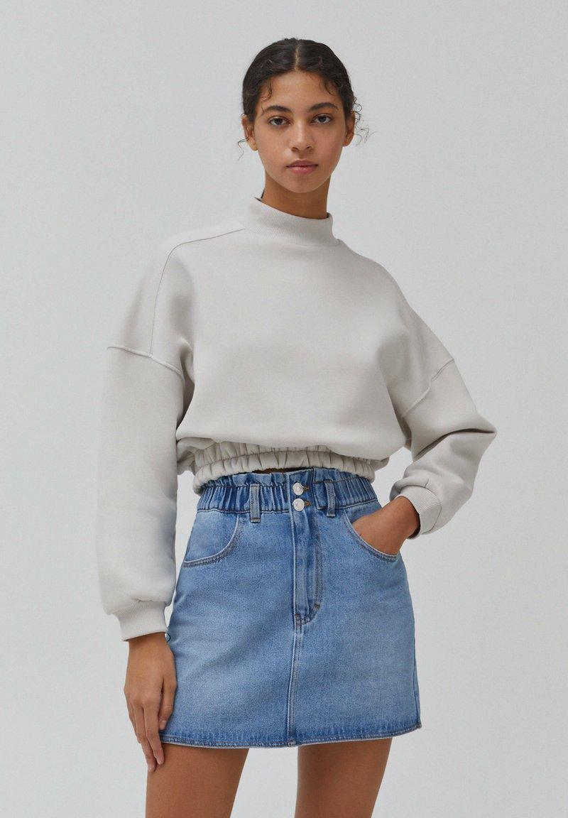 PULL&BEAR - A-line skirt - blue