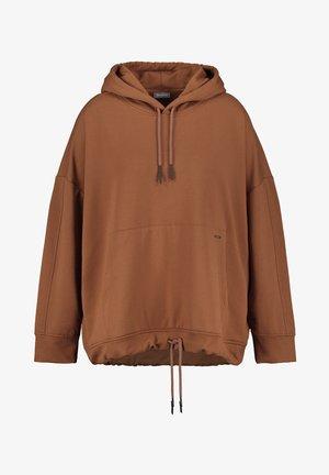 MIT SIGNATUR AM ÄRMEL - Sweatshirt - mocca brown