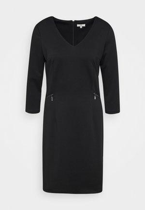 DRESS WITH ZIP POCKETS - Jersey dress - deep black