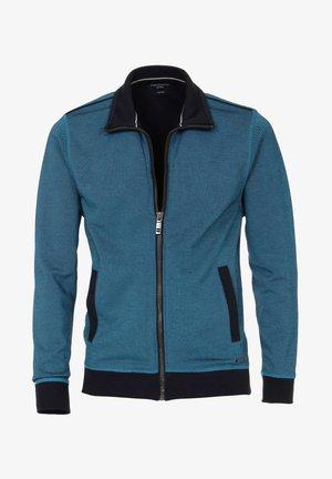 Zip-up sweatshirt - aqua bis petrol
