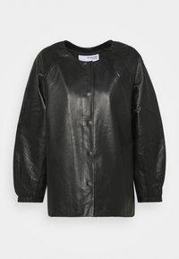 Selected Femme - SLFVERA  O NECK JACKET - Leather jacket - black - 5