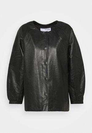SLFVERA  O NECK JACKET - Veste en cuir - black