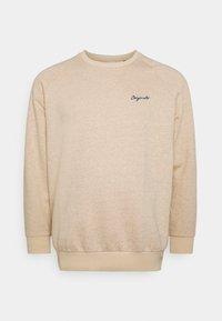 Jack & Jones - JORHIDE CREW NECK - Sweatshirt - oatmeal - 0