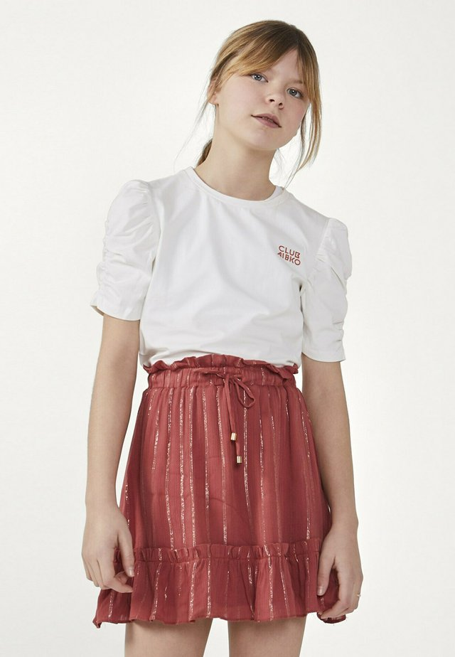 KAYLE  - A-line skirt - rood