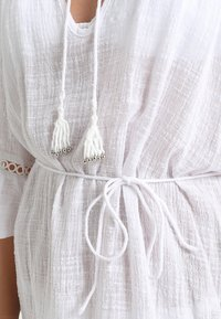 Seafolly - STRIPE BELL SLEEVE COVER UP - Accessoire de plage - white - 5