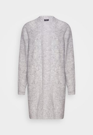 SLFLULU LONG CARDIGAN - Cardigan - light grey melange