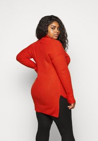 CAPSULE by Simply Be - ROLL NECK - Jumper - red - 2