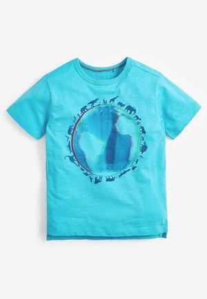 PLANET EARTH T-SHIRT (3-16YRS) - Print T-shirt - blue