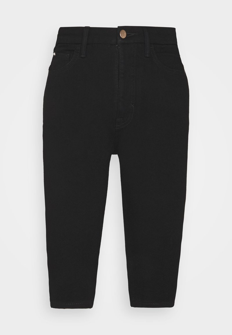 Marks & Spencer London - MAGIC - Denim shorts - black denim