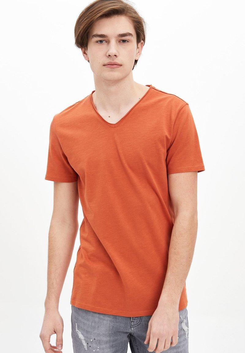 DeFacto - T-shirt basique - orange