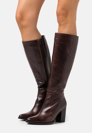 BIAJUDIA LONG BOOT - High Heel Stiefel - dark brown