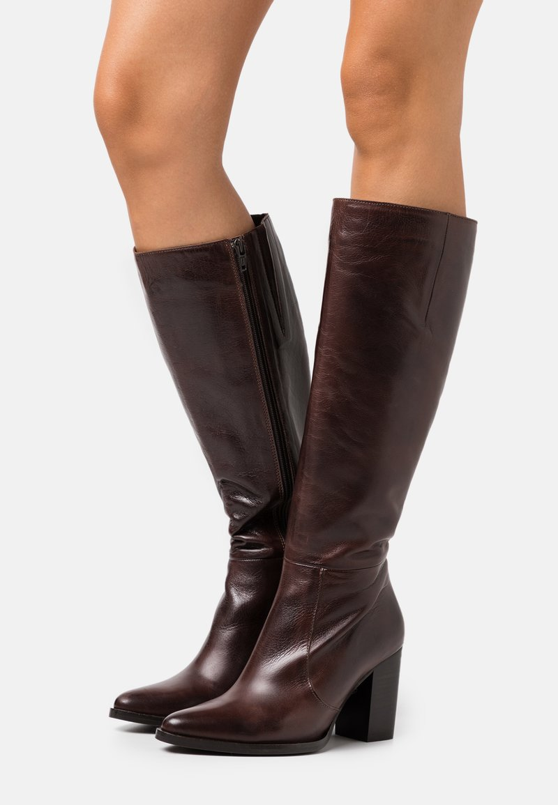 Bianco - BIAJUDIA LONG BOOT - High heeled boots - dark brown