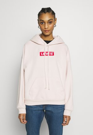 GRAPHIC HOODIE - Huppari - peach blush