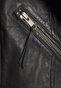 Culture - CENZIA JACKET - Leather jacket - black - 2