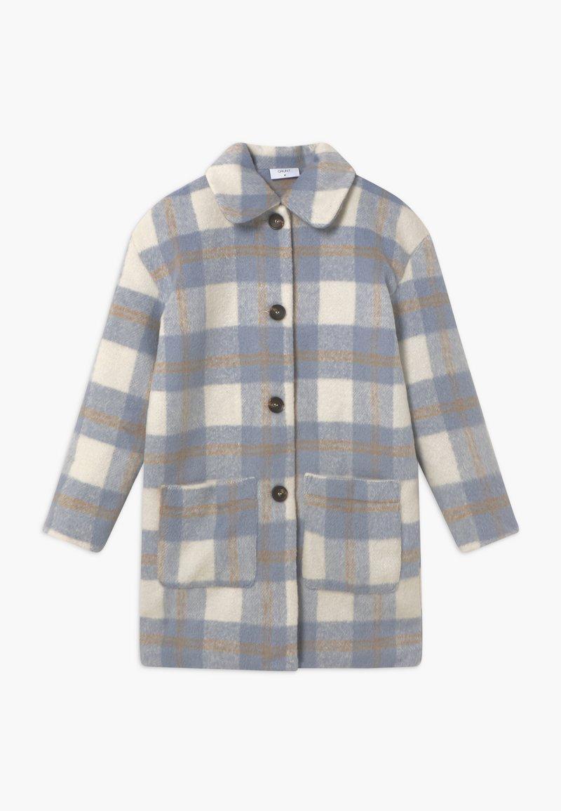 Grunt - BOUCLE - Zimní kabát - blue check