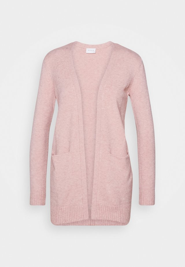 VIRIL OPEN CARDIGAN - Strickjacke - misty rose melange