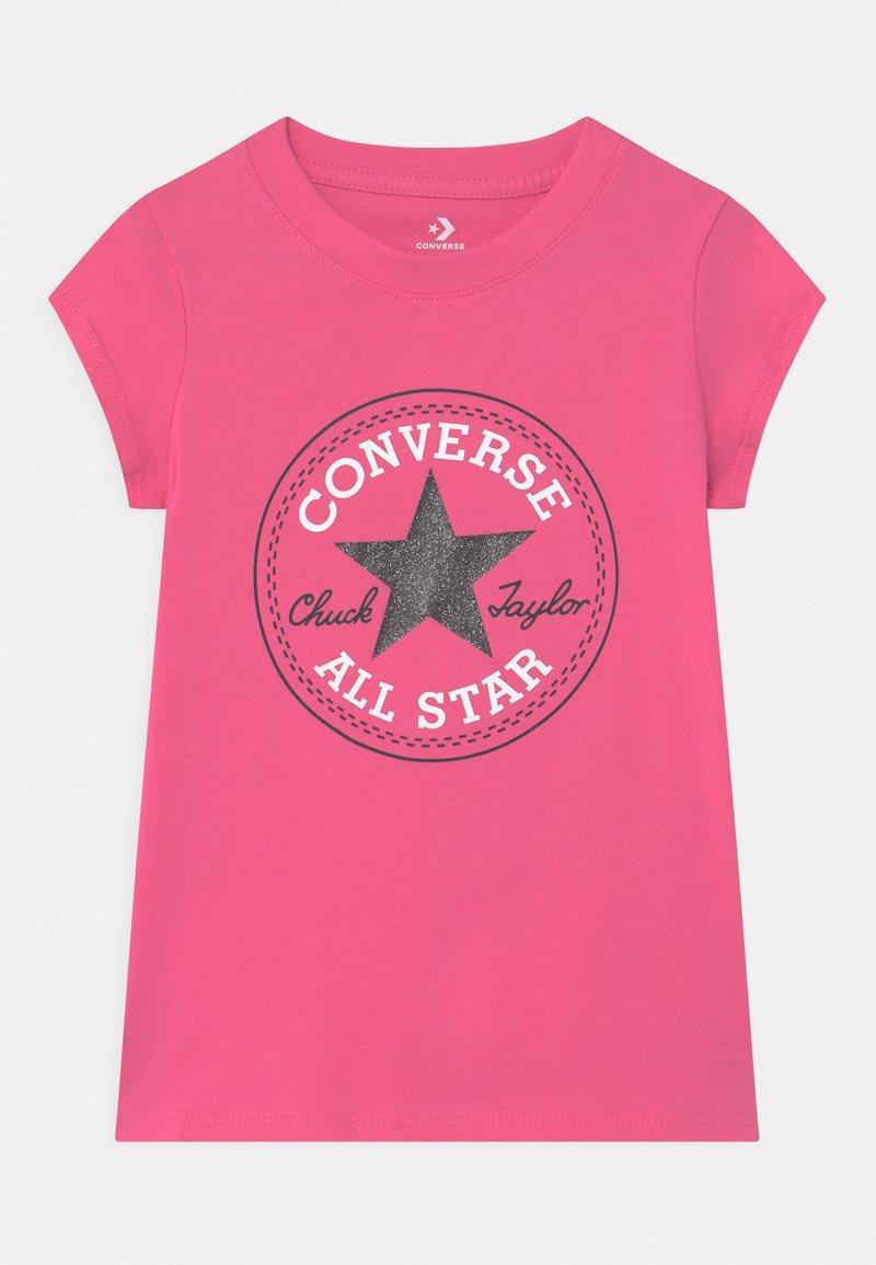 Converse - CHUCK PATCH  - T-shirt z nadrukiem - mod pink