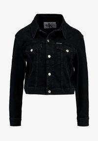 Calvin Klein Jeans - CROPPED FOUNDATION TRUCKER - Chaqueta vaquera - copenhagen black - 6