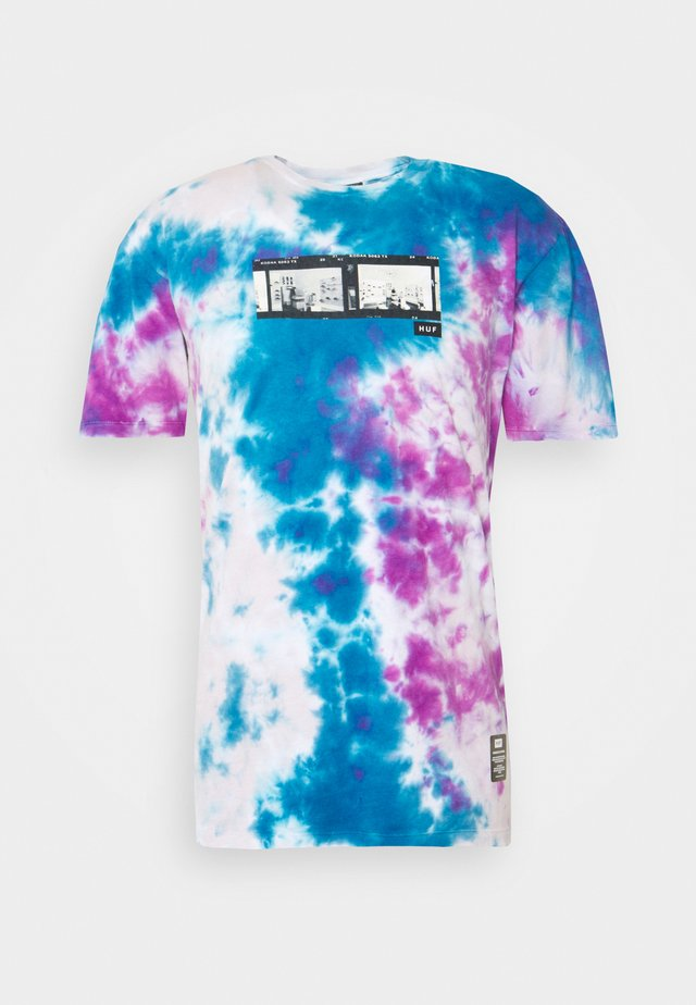 ORIGIN TEE - T-Shirt print - navy/tie dye