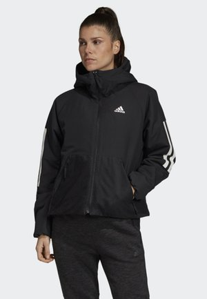 BACK-TO-SPORTS 3-STRIPES HOODED INSULATED JACKET - Chaqueta de deporte - black