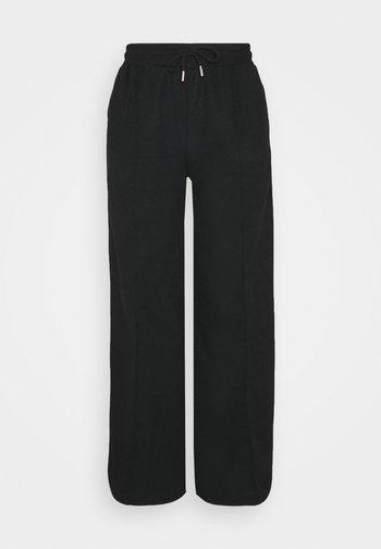 Ribbed straight leg joggers - Træningsbukser - black