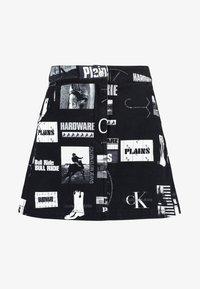 Calvin Klein Jeans - PUNK SKIRT - Jeanskjol - black - 4